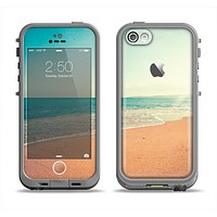 The Vintage Beach Scene Apple iPhone 5c LifeProof Fre Case Skin Set