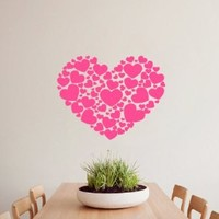 Housewares Wall Vinyl Decal Heart with Small Hearts Love Home Art Decor Kids Nursery Removable Stylish Sticker Mural Unique Design for Any Room