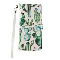 Samsung Galaxy S8 Plus Cacti Wallet with Matching Detachable Case
