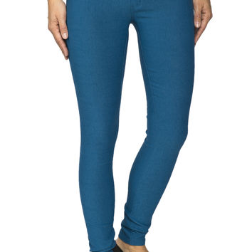 Girls Low Rise Super Stretch Teal Jegging