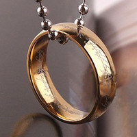 One ring from Hobbit  inspired Lord of the Rings worn by Bilbo and Frodo Baggins  *chain or keychain custom made*