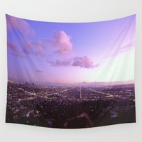 Los Angeles Skyline Wall Tapestry by John Lyman Photos  Johnlymanphotos@gmail