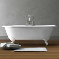 Vintage Imperial Clawfoot Soaking Tub and Tub Fill   Tubs   Restoration Hardware