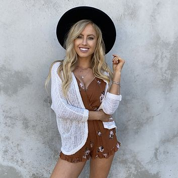 All Around Knit Cardigan in Ivory