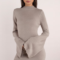 Warm Nights Bell Sleeve Sweater Dress