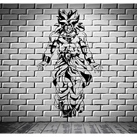 Dragon Ball Z Broly Saiyan Anime Manga Decor Wall mural vinyl Decal sticker M391