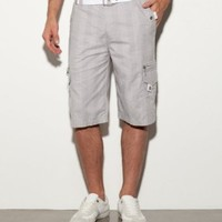 G by GUESS Knoxville Plaid Cargo Shorts: Amazon.com: Clothing