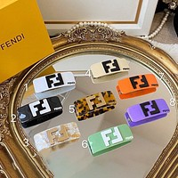 Fendi colorful letter print hairpin hair accessory