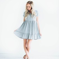 Synched Havana Dress in Grey