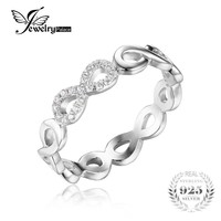 Infinity Forever Love Anniversary Promise Ring 925 Sterling Silver