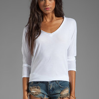 Lanston Oversized 3/4 Sleeve Tee in White from REVOLVEclothing.com