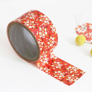 """Iconic 1.96""""X11yd pattern adhesive reform tape - Cherry blossom"""