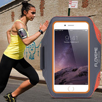 FLOVEME Sport Arm Band Case For iPhone 6 6S 4.7'' iPhone 6 Plus / 6S Plus Outdoor Waterproof Running Gym Leather Phone Cover