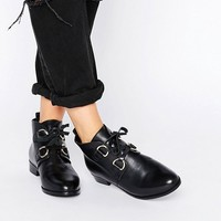 ASOS ANDREA Leather Lace Up Boots at asos.com