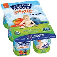 Stonyfield Organic YoBaby Blueberry Apple Yogurt - 4oz/6ct