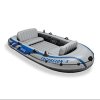 INTEX Excursion 4 Inflatable River/Lake Raft Set | 68324EP - Walmart.com