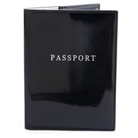 Patent Passport Holder, Black, Passport Cases