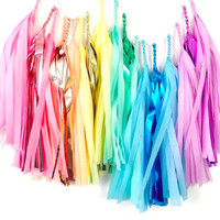 Pastel Rainbow Tassel Garland - Rainbow Garland - Unicorn Birthday Party  // Rainbow Party Decoration // Unicorn Party Decor // Baby Shower