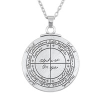 Bijoux Talisman For Good Luck Key of Solomon Pentacle Seal Pagan Wiccan Jewelry Supernatural Amulet Necklace Men Pendant