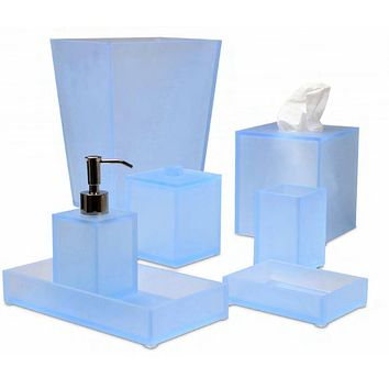 Ice Frosted Sky Bath Accessories by Mike + Ally