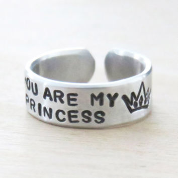 You are my princess crown tiara ring - Ring for daughter - Girlfriend ring - Gift for wife - Grand-daughter gift - Valentines gift