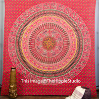 Indian Mandala Tapestries, Hippie Tapestries, Tapestry Wall Hanging, Bohemian Indian Bed Cover, Boho Tapestries, Dorm Tapestry, Ethnic Art