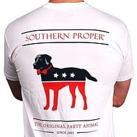 Party Animal Tee in White by Southern Proper