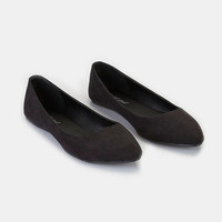 Pointed Faux Suede Skimmer Flats | Wet Seal