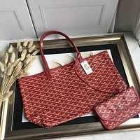 Kuyou Gb69729 Goyard Tote Red Mini Carry Shopper Bag Picture Size 34*45*13 Cm