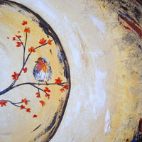 Two Song Birds Original Painting