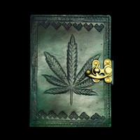 Green Leaf Leather Journal