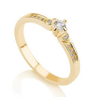 Engagement Promise Ring Gold Couples Ring ,Wedding Bands, Lovers Rings, Purity Ring