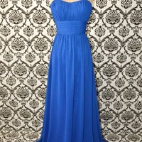 Blue Ball Formal Bridal Long Gown Dress/Prom Dress from FancyGirl