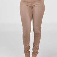 Fashion jeans- Cute high waist jeans- beige skinny jeans