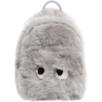 Anya Hindmarch Women Mini Eyes Shearling & Leather Backpack