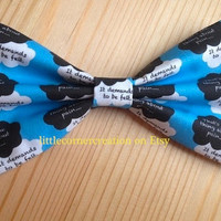 The Fault In Our Stars Novel by John Green Inspired Hair bow --- OR --- Bow tie