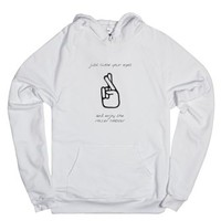 just close your eyes and enjoy the roller coaster-White Hoodie