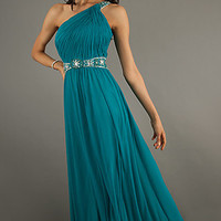 Grecian Style One Shoulder Temptation Evening Gown