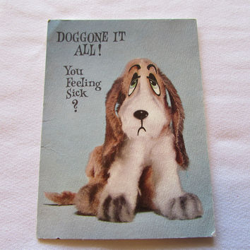 Vintage Puppy Get Better Soon Greeting Card