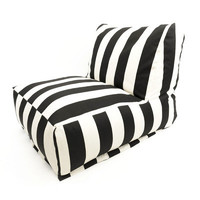 Majestic Home Products Striped Bean Bag Chair Lounger