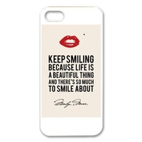 Marilyn Monroe Quotes iPhone 5 Case Hard Plastic iPhone 5 Case