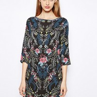 Warehouse Trailing Floral Dress - Print