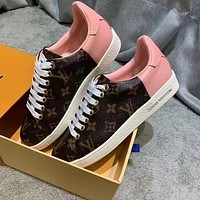 LV Colorblock Women's Retro Presby Low-Top Sneakers Shoes
