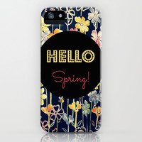 Hello Spring iPhone & iPod Case by RDelean