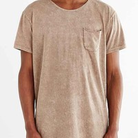 Feathers Mineralized Long Scoop Neck Tee