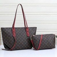 Louis Vuitton LV Hot Sale Two-piece Set One Shoulder Messenger Bag Handbag Fashion Lady Shopping Bag Tote Bag