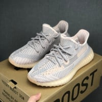 HCXX 19July 177 Adidas Yeezy Boost 350v2 Hollow Comfortable Running Shoes