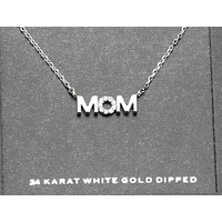 """Gold Dipped """"Mom"""" Necklace"""