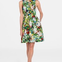 Women's Catherine Catherine Malandrino 'Fawn' Floral Print Fit & Flare Dress