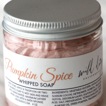 Pumpkin Spice Whipped Soap